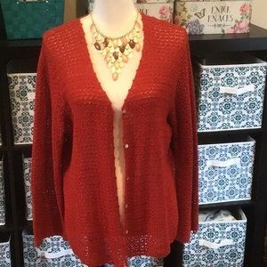 Harvest Rust Colored Crocheted Sweater